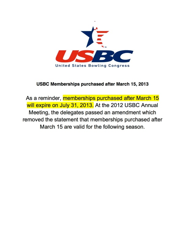 USBC Memberships purchased after March 15